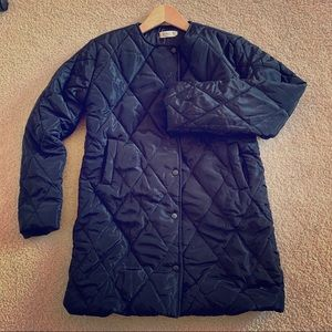 Jackets & Blazers - Winter jacket cozy warm black/silver